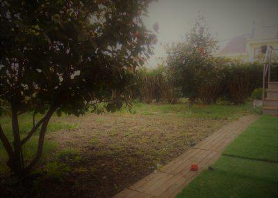 Jardín de uso exclusivo de la vivienda