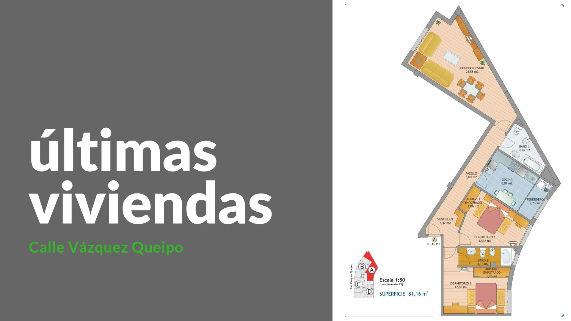 Apartamento con terraza – en Vázquez Queipo en Lugo