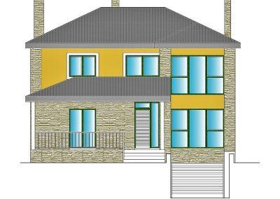 Alzado fachada principal