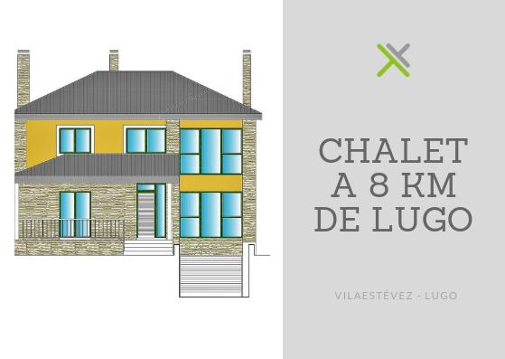 Chalet independiente en obra nueva – en Vilaestévez (Lugo)