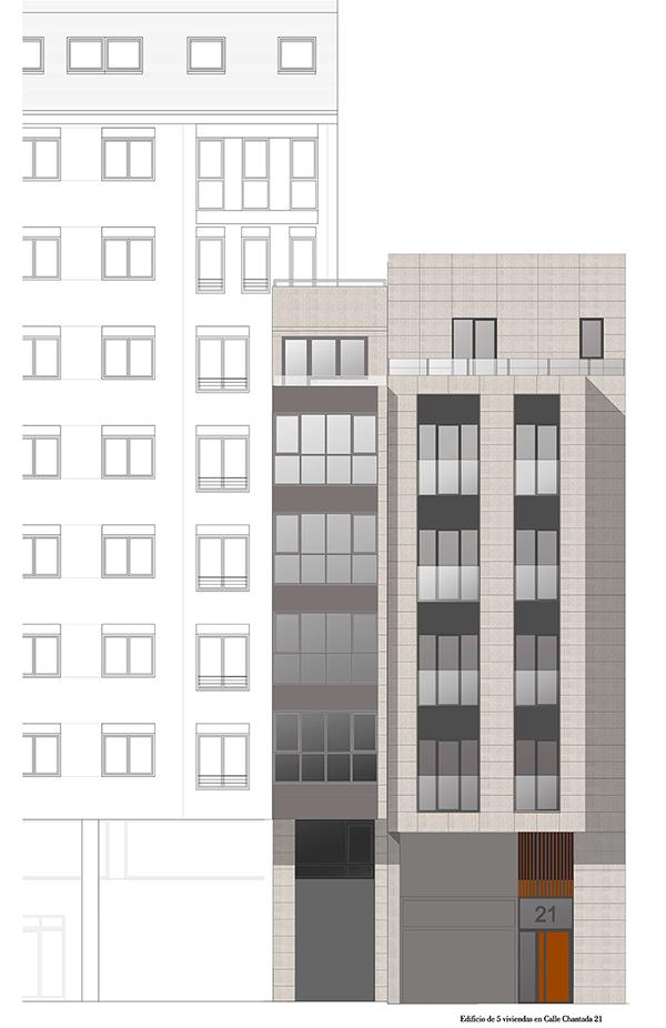 Piso en segunda planta en obra nueva – calle Chantada en Lugo