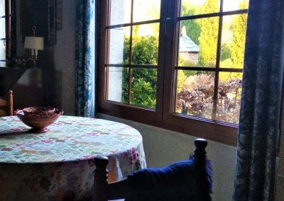 Detalle vista desde mesa del salón