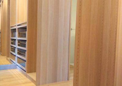 Vestidor con alta capacidad de almacenaje